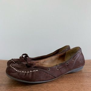 Xhilaration Loafer Flats with Bow, Brown, Size 9